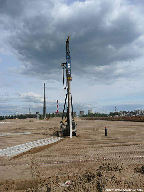 The first piling for the PVC complex was driven on 12 July 2010.