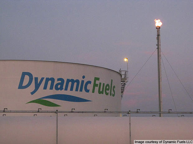 The Dynamic Fuels plant will convert animal feedstock into renewable fuels