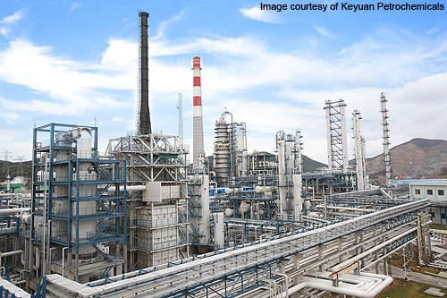 Keyuan Petrochemicals existing facility.