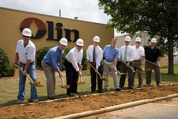 The $160m Olin Chlor Alkali Products Charleston membrane cell manufacturing facility broke ground in July 2011.