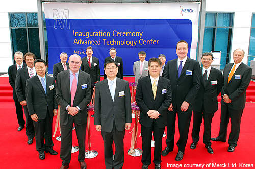Inauguration ceremony of the Merck Advanced Technology Centre.