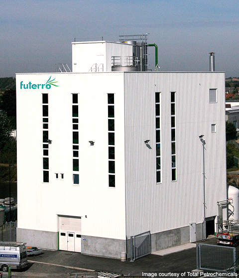 Futerro's bioplastics production plant is the first of its kind in Europe.