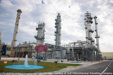 GPIC's new facility has the capacity to produce 450t a day of carbon dioxide (CO<span class=