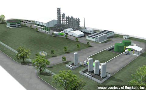 3D rendering of Enerkem's full-scale commercial waste-to-biofuels facility.