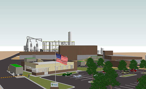 The Sierra Biofuels Plant is expected to start production in 2015. Image courtesy of Fulcrum BioEnergy.