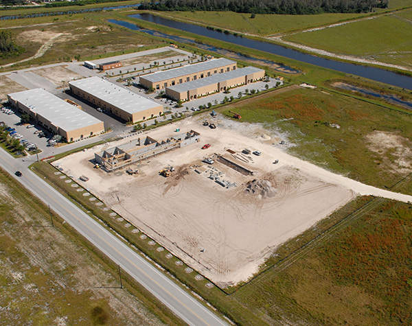 Aerial view of the Algenol Biofuels ethanol production site in Lee County, Florida. Image courtesy of Algenol LLC.