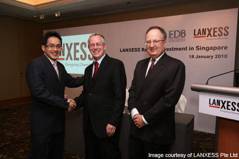 Senior executives from the Singapore Economic Development Board and LANXESS announced plans of constructing a butyl rubber plant in Singapore.