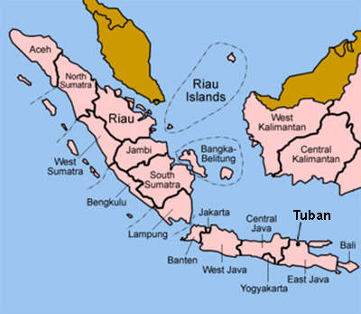 The Tuban petrochemical facility is in East Java.
