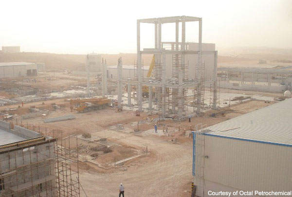 Construction of Octal's Sapphire plant began in late 2006 and the plant opened in August 2008.