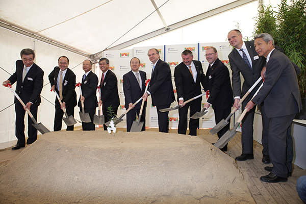 The groundbreaking ceremony of Hi-Bis' second bisphenol plant was held on 1 October 2012. Image courtesy of Bayer MaterialScience.