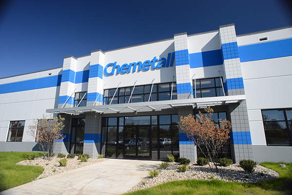 The new production site of Chemetall at Blackman Township was commissioned in October 2012. Image courtesy of © 2012 Chemetall GmbH. All rights reserved.