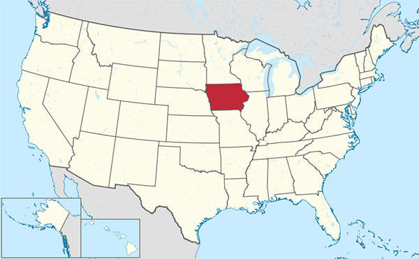 OCI's second nitrogen fertiliser plant in the US will be located in the state of Iowa. Image courtesy of TUBS.