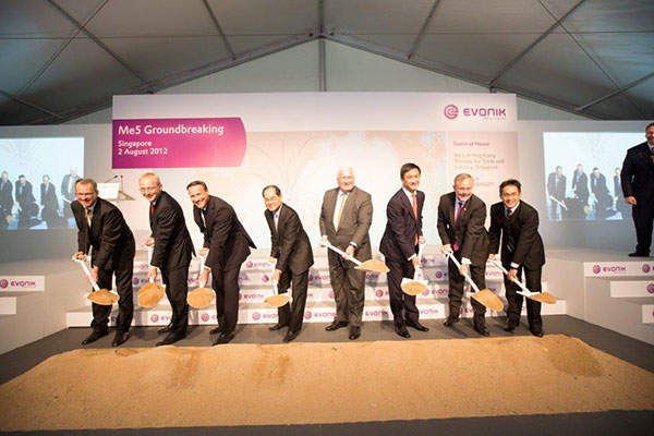Evonik began construction of its methionine complex on Jurong Island in August 2012. Image courtesy of Evonik.