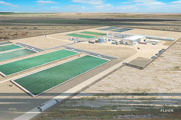 A rendition of the SunSprings Demonstration Plant in Hobbs, New Mexico.