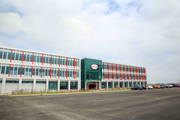 The factory is Henkel's central production site for industrial adhesives in China and the Asia-Pacific region.