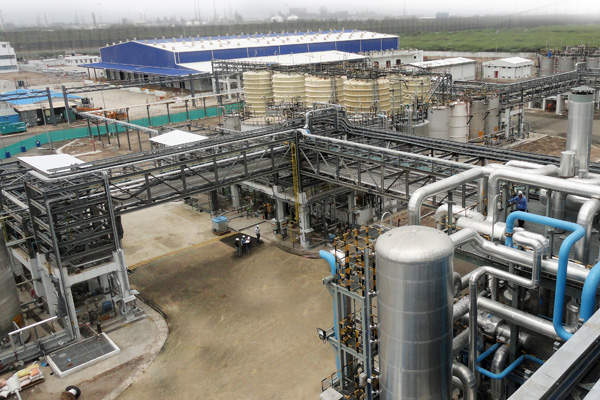 BASF opened its chemical complex in Dahej, Gujarat, in October 2014.
