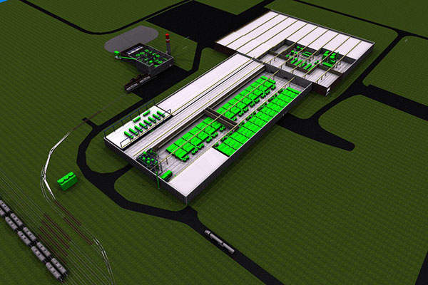 A preliminary 3D image of the proposed 50,000t per annum Argex Titanium's titanium  dioxide production plant. Image: courtesy of News-Release.