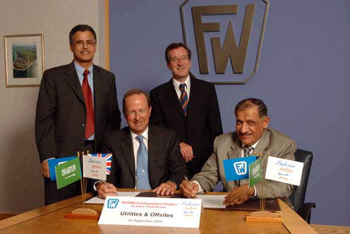 During September 2005 Sabic awarded a programme management services contract to Foster Wheeler Energy.