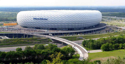 The Allianz Arena is one of the largest ETFE buildings in the world. ETFE provides excellent heat and chemical resistance and mechanical strength.