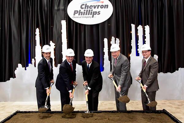 Construction of ethane cracker at Cedar Bayou plant began in April 2014.