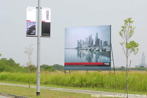 LANXESS' site on Jurong Island where the company's new butyl rubber plant was built.