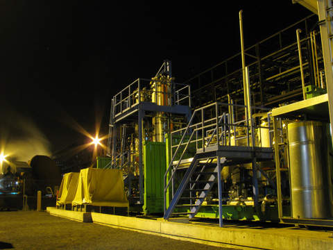 The demonstration plant will have the capacity to produce 100,000gal/yr of bio-fuels.