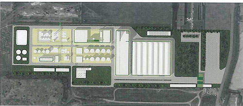 Construction of the ethanol plant began in April 2011.