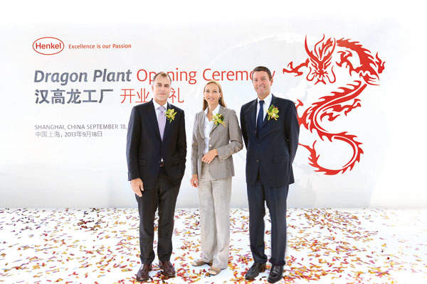 Henkel opened the world's largest adhesives factory in China in September 2013.