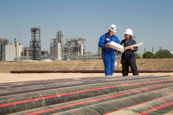 The polyethylene plant at Mont Belvieu, Texas, is also being expanded as part of the larger Baytown Complex Expansion Project. Photo: Business Wire.