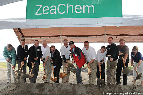 Officials at the ground breaking ceremony of ZeaChem's biorefinery.