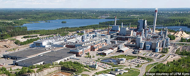 UPM invested about €340m in the chemical recovery plant.