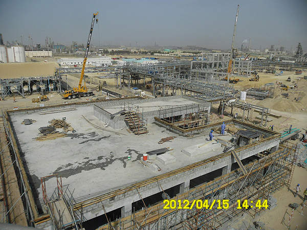Image showing the progress of construction on the control room and overall site. Image courtesy of Albemarle.