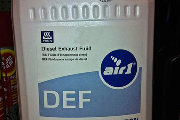 Diesel Exhaust Fluid (DEF) will be produced as an additional product from the new urea plant. Image: courtesy of Scheinwerfermann.