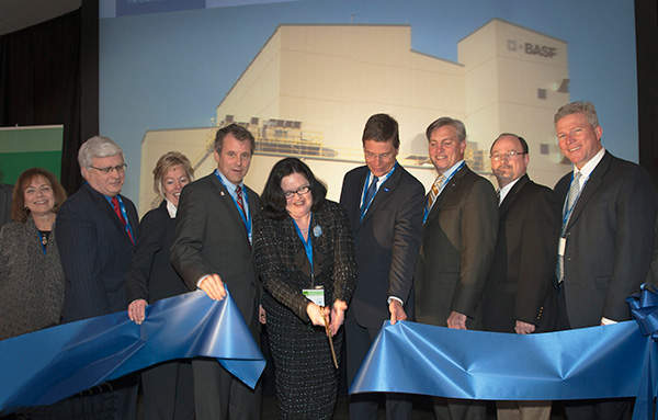 The grand opening ceremony of BASF's production plant. Image courtesy of BASF.