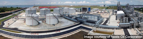 Panoramic view of the plant located in the Tuas site.