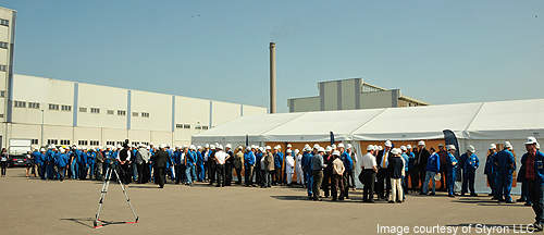 The majority of the construction work was carried out by companies from in and around Schkopau, Germany.