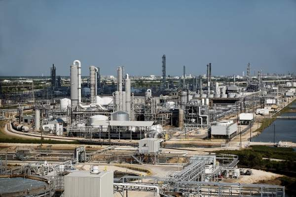 The $600m ammonia plant is being constructed at BASF's Freeport Verbund site in Texas. Image courtesy of BASF SE.