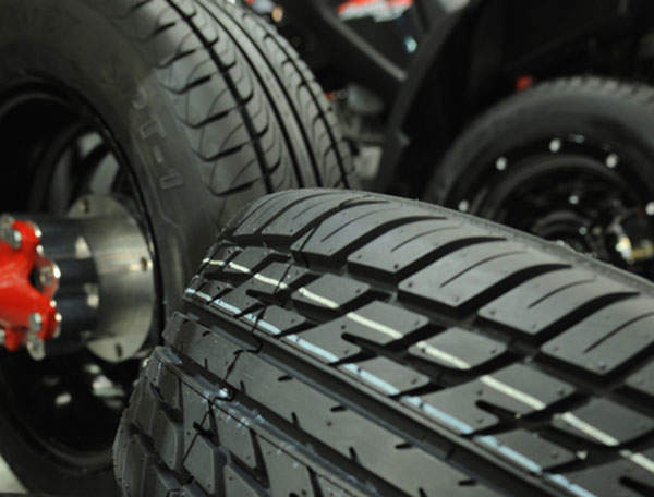 Neodymium polybutadiene is primarily used in the production of green tyres. Photo courtesy of LANXESS.