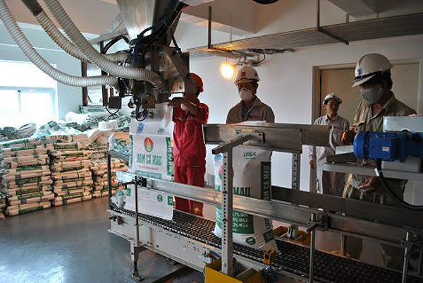 Packaging unit of the Ca Mau fertiliser plant. Image courtesy of PetroVietnam Fertilizer and Chemicals Corporation.