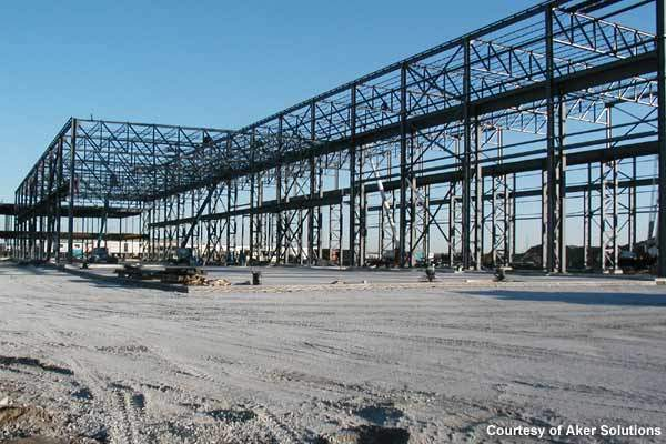 Construction commenced in July 2008 and the facility includes an office, machine shop and two assembly bays.
