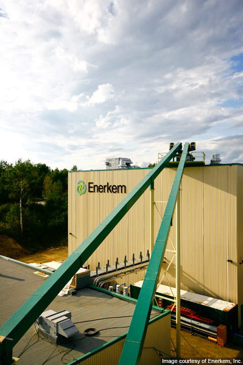 Enerkem's commercial demonstration facility in Westbury, Quebec.