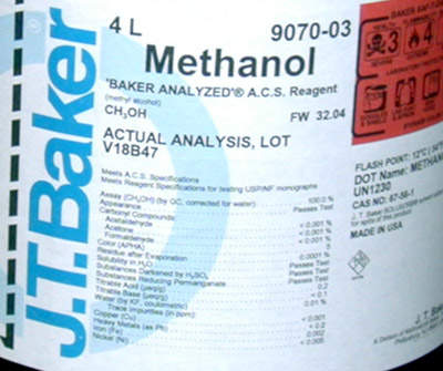 Methanol will not just be for use as a solvent; the plant will also produce other products for domestic use and export.