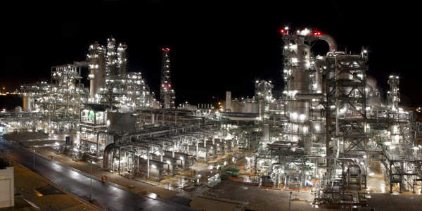 Work on the petrochemical complex project started in October 2006 and is expected to be operational in early 2010.