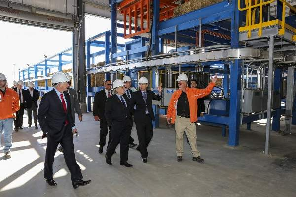 The new facility has a bioethanol production capacity of 25 million gallons a year.