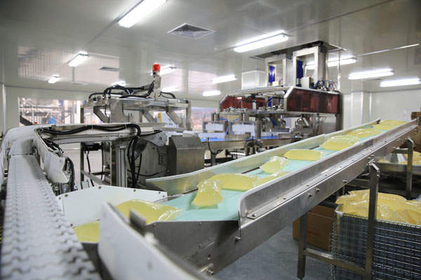 One of seven production lines in the hotmelt workshop of the Dragon Plant.