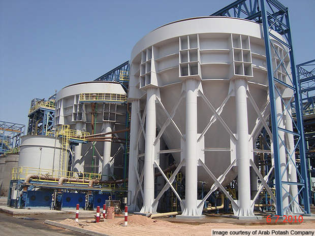 The new plant has a capacity of 500,000t/y of potash.
