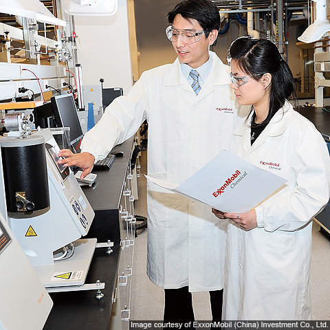 The chemical development complex currently employs 200 scientists and technicians.