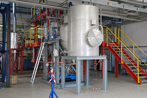 Pre-treatment and high-solid enzymatic hydrolysis facilities at the pilot plant in Rivalta.