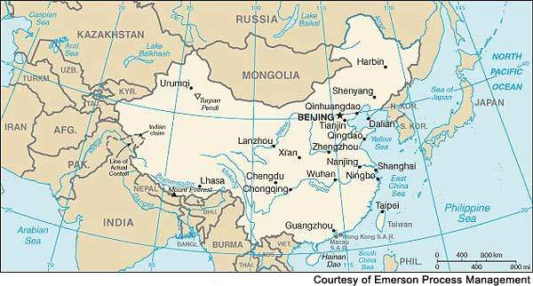 The Dushanzi refinery is situated in north-west China, towards the border with Kazakhstan.