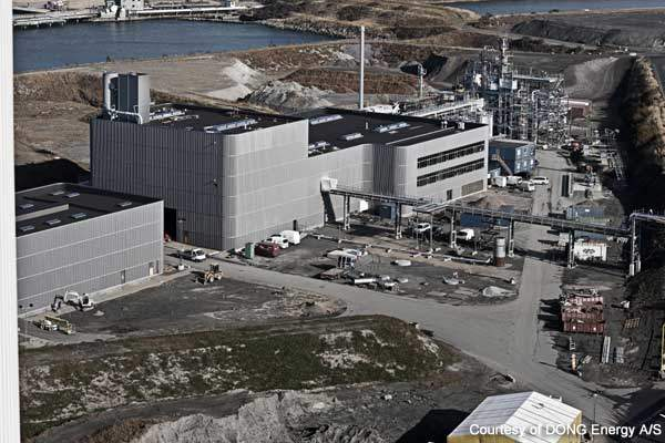 The Inbicon demonstration plant is situated adjacent to Asnæs Power Station, saving costs and energy.